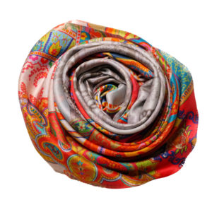Colours of orient silk scarf rose