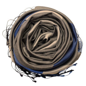 Golden tan silk scarf rose