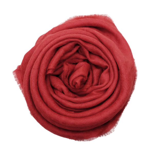 Imperial red cashmere scarf rose