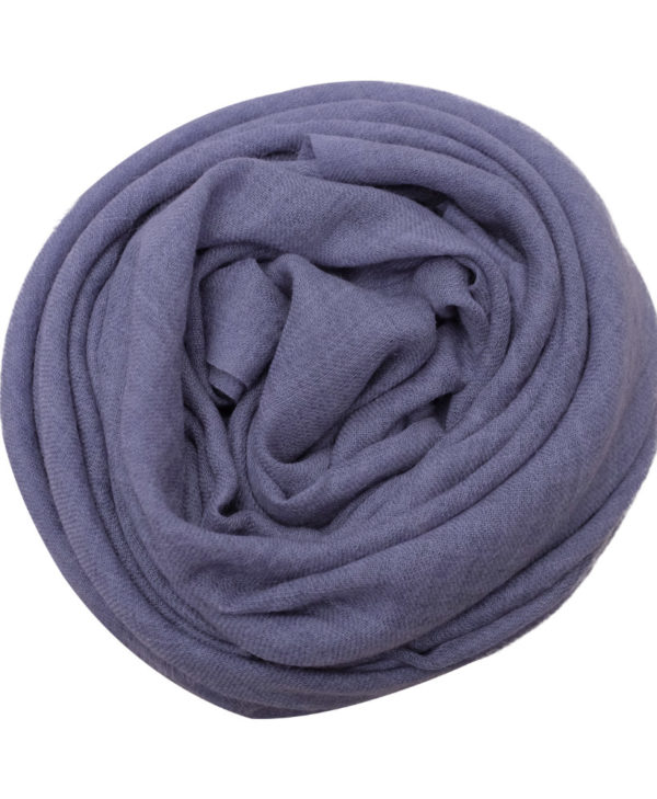 Ocean blue fine wool scarf rose