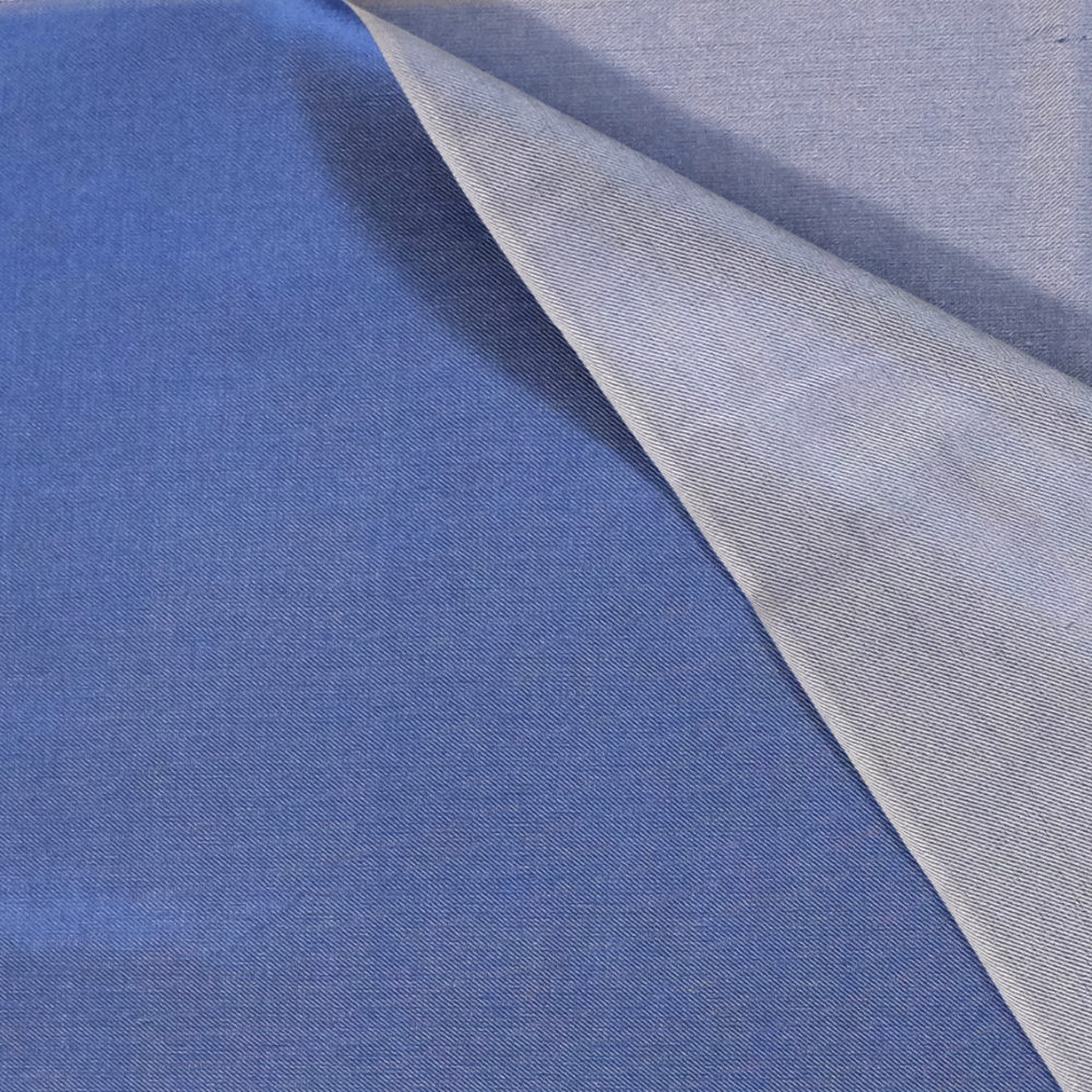 Shades of blue silk scarf material details