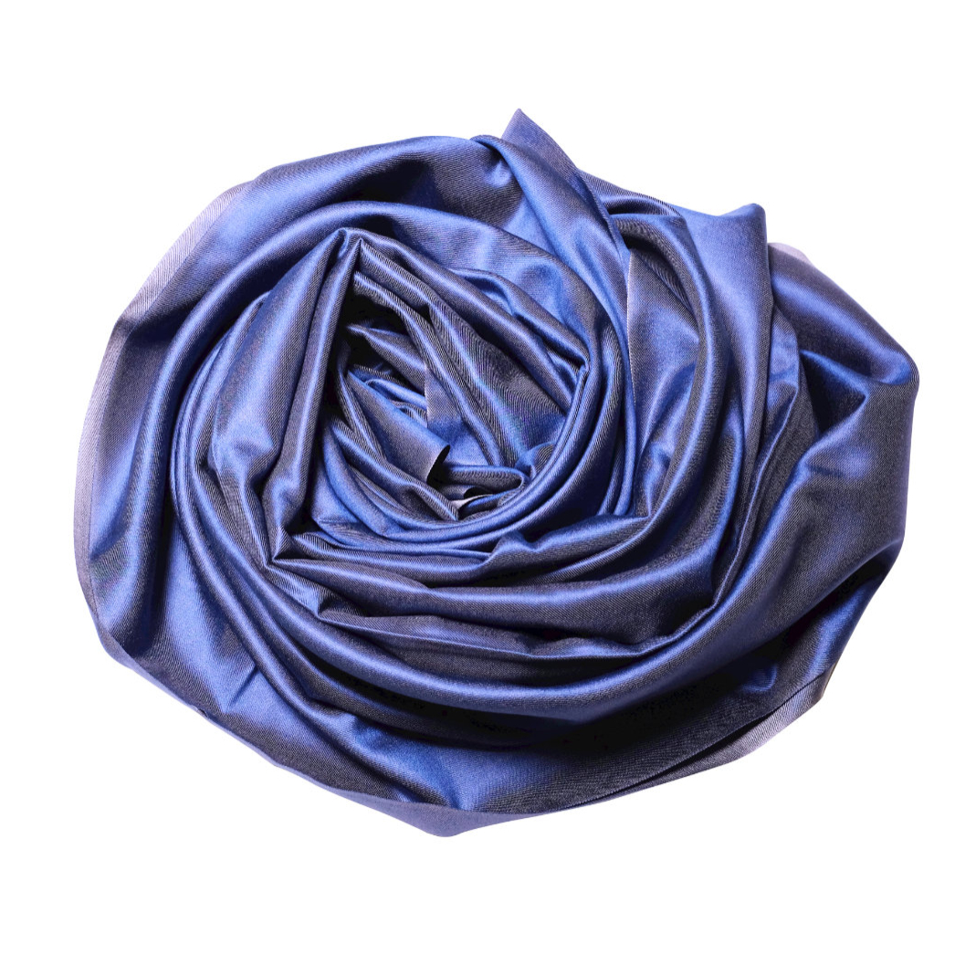 Shades of blue silk scarf rose