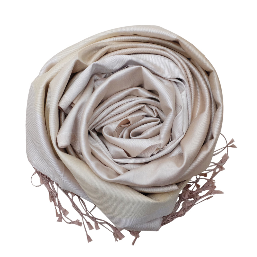 Shades of oyster silk scarf rose