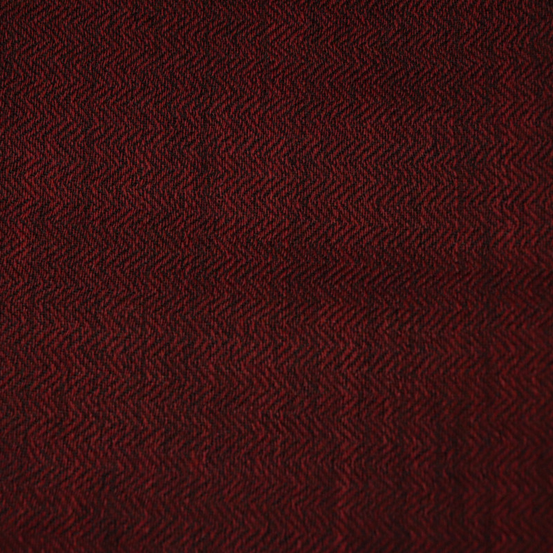 Wine red fine wool scarf material details