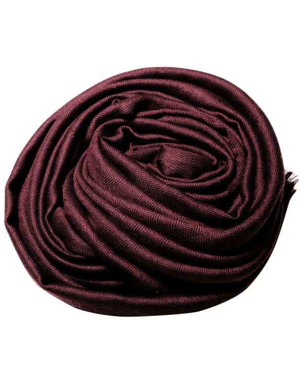 Wine red fine wool scarf rose