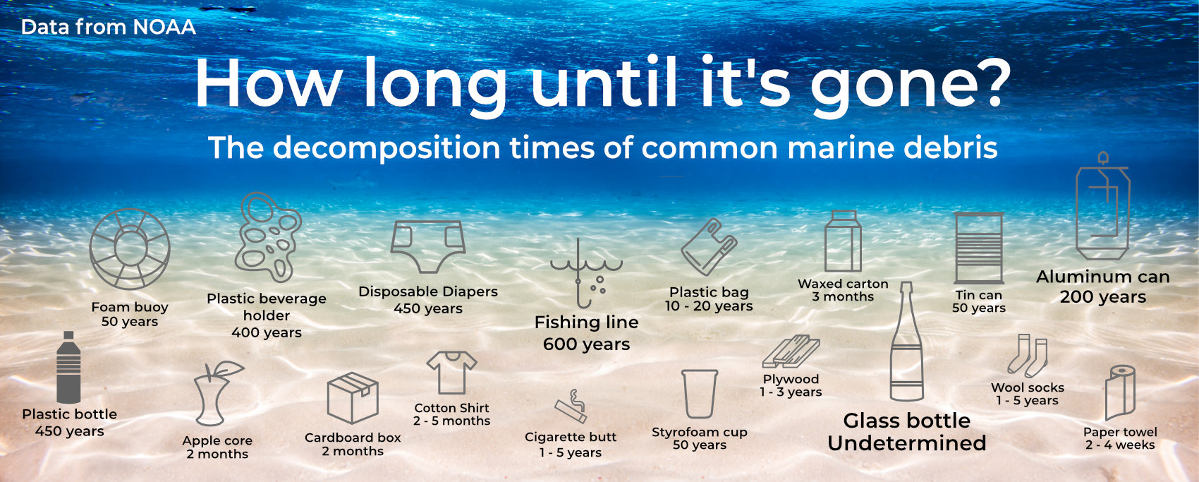 How long materials take to decompose